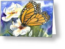 Monarchs In The Gardens Greeting Card