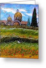 Monastery In Greece Greeting Card