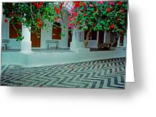 Monastery Symi Greece Greeting Card