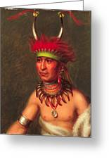 Monchousia . White Plume  Kansa Greeting Card