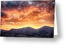 Mondello Sunset Greeting Card by Viacheslav Savitskiy
