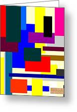 Mondrian Composition Greeting Card