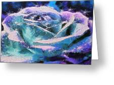 Monet Frosted Rose Greeting Card