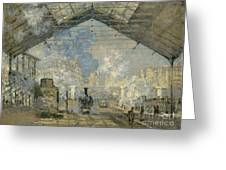 Monet Gare St Lazare 1877 Greeting Card