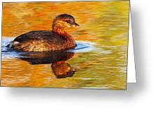 Monet Grebe Greeting Card