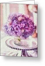 Monet Purple Pedestal Greeting Card