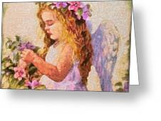Monet Silked Angel Greeting Card