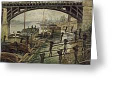 Monet The Coalmen 1875 Greeting Card