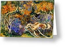 Monet Under Water Greeting Card