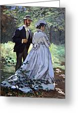 Monet's Bazille And Camille Greeting Card