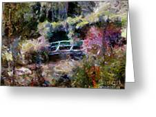 Monet's Bridge In Autumn Greeting Card