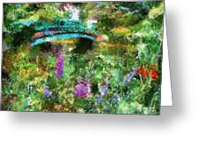 Monet's Bridge In Spring Greeting Card