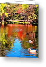 Monet's Garden In Hawaii 2 Greeting Card
