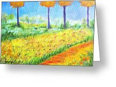 Monet's Garden Path Greeting Card