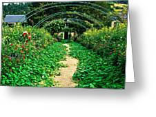 Monet's Gardens At Giverny Greeting Card