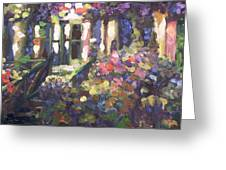 Monet's Home In Giverny Greeting Card