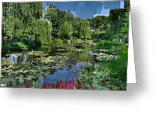 Monet's Lily Pond At Giverny Greeting Card