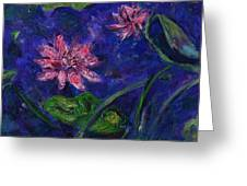 Monet's Lily Pond II Greeting Card