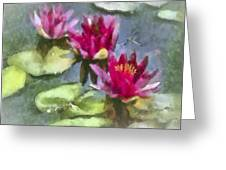 Monet's Muse Greeting Card by Jill Balsam