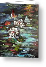 Monet's Pond With Lotus 1 Greeting Card