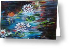 Monet's Pond With Lotus 11 Greeting Card