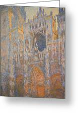 Monet's Rouen Cathedral -- West Facade Greeting Card