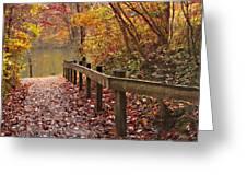 Monet's Trail Greeting Card by Debra and Dave Vanderlaan