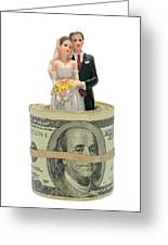 Money And Happiness Greeting Card