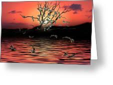 Money Tree Sunset Greeting Card
