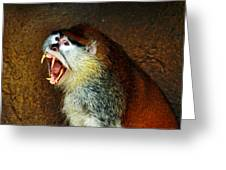 Monkey Fangs Greeting Card