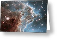 Monkey Head Nebula Greeting Card