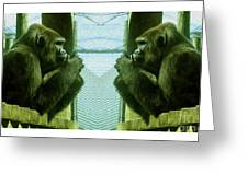 Monkey See Monkey Do Greeting Card