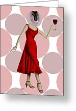 Monkey With A Glass Of Wine Greeting Card by Kelly McLaughlan