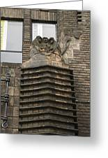 Monkeys And Elephant Amsterdam Greeting Card