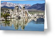 Mono Lake And Sierra Mtns Greeting Card