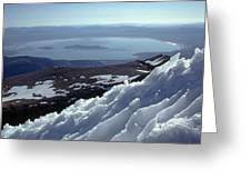 Mo-186-mono Lake From Mt. Dana In Winter  Greeting Card