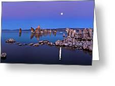 Mono Lake Moon Rise Greeting Card