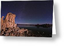 Mono Lake, Usa, At Night Greeting Card