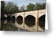 Monocacy Aqueduct On The C And O Canal In Maryland Greeting Card