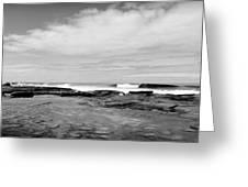 Monochrome Tides Greeting Card