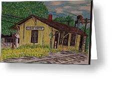 Monon Clear Creek Indiana Train Depot Greeting Card