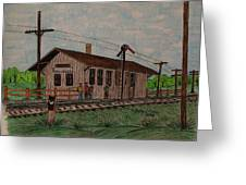 Monon Ellettsville Indiana Train Depot Greeting Card
