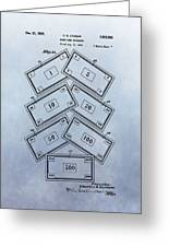 Monopoly Money Patent Greeting Card