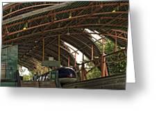 Monorail Depot Disneyland 01 Greeting Card