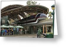 Monorail Depot Disneyland 02 Greeting Card