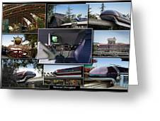 Monorail Disneyland Collage Greeting Card