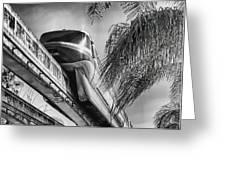 Monorail Greeting Card