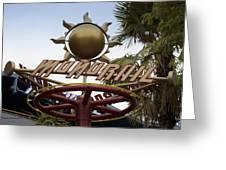 Monorail Signage Disneyland Greeting Card