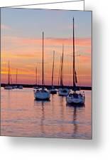 Monroe Harbor Sunrise Greeting Card