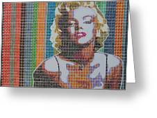 Monroe In Stamps Greeting Card